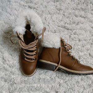 Brown Fur Booties